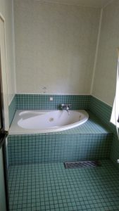 普通の賃貸住宅にはない,広い浴室